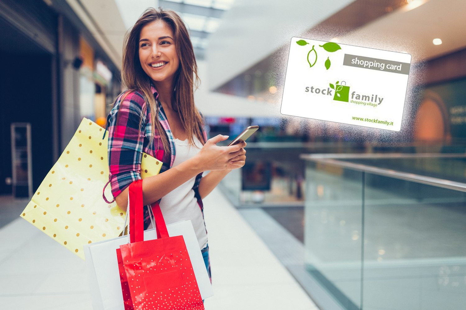 Shopping Card Stock Family Outlet